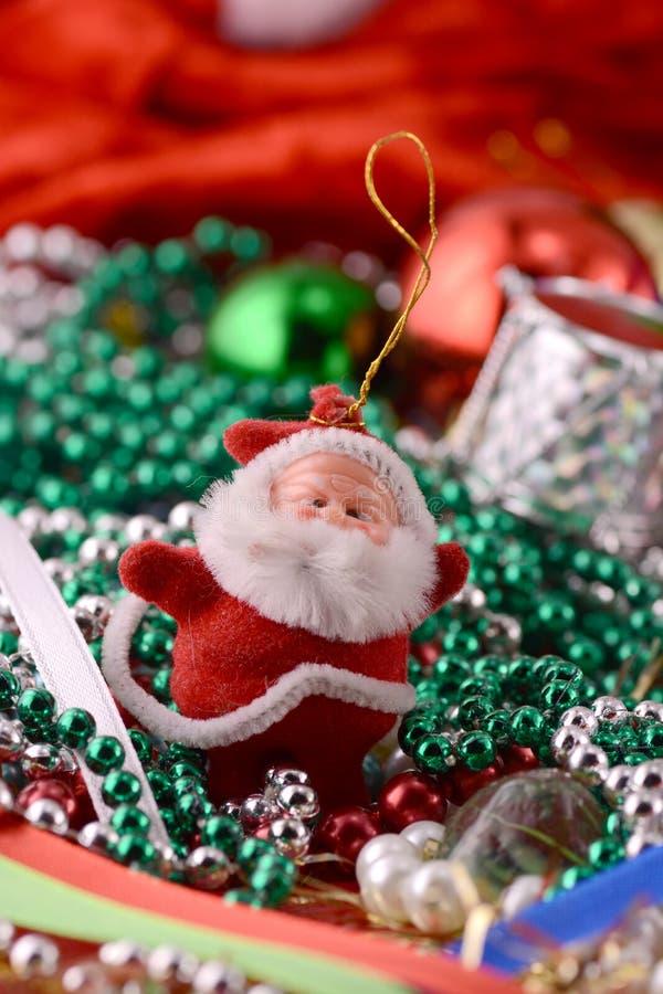 Natal Papai Noel, fim acima, cartão do xmas imagens de stock