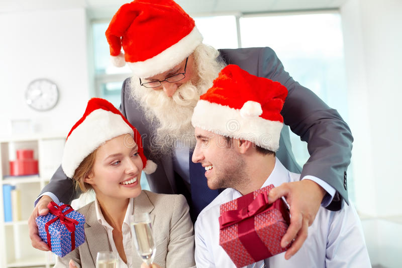 Natal para empregados fotografia de stock royalty free
