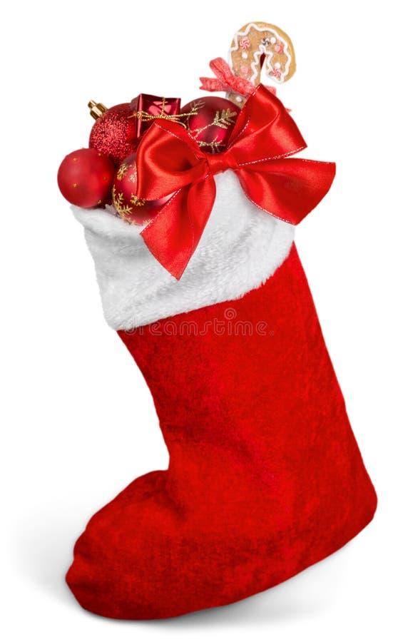 Natal que armazena completamente de quinquilharias do Natal imagem de stock royalty free