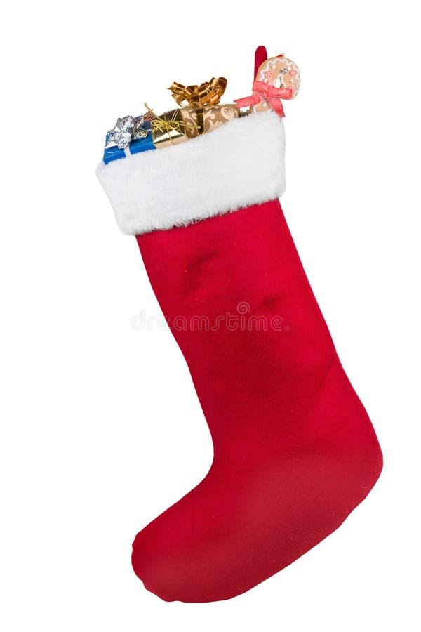 Natal que armazena completamente dos presentes e dos presentes foto de stock royalty free