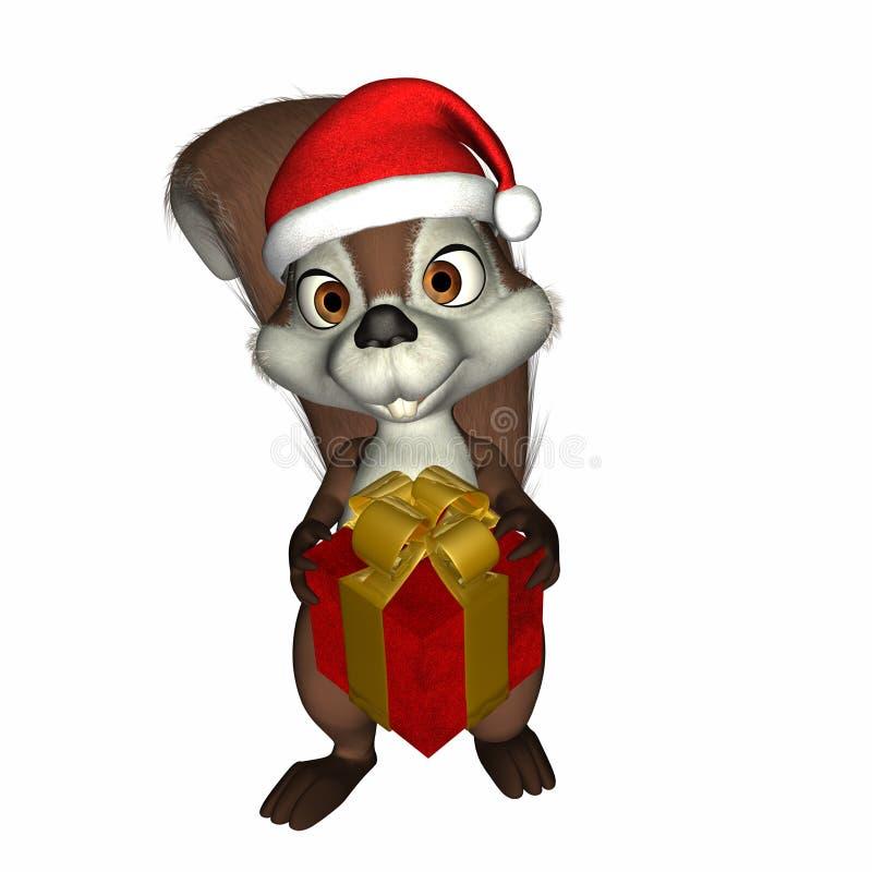 Natal que dá o esquilo ilustração do vetor