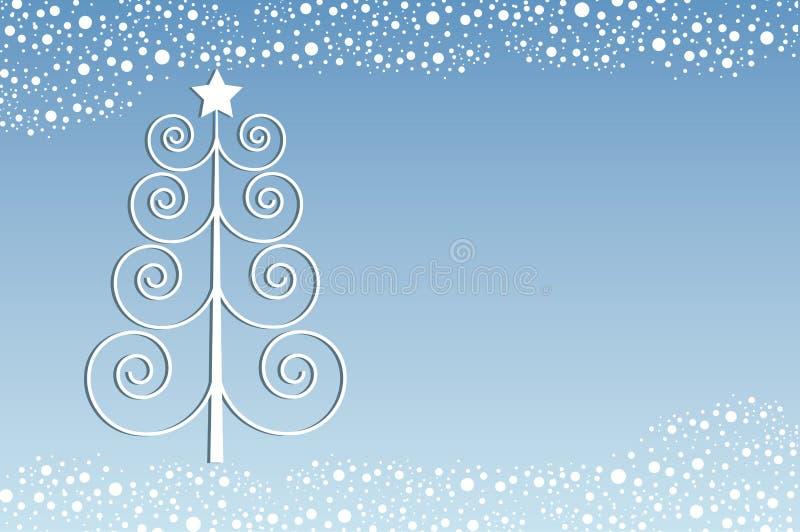 Natal retro ilustração stock
