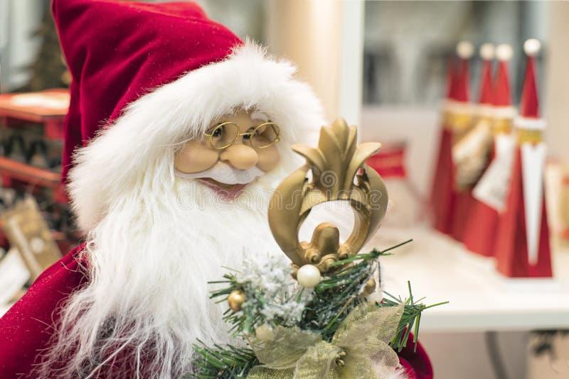 Natal Santa Claus, boneca de Santa Boneca de Santa Claus Brinquedo do Natal fotos de stock