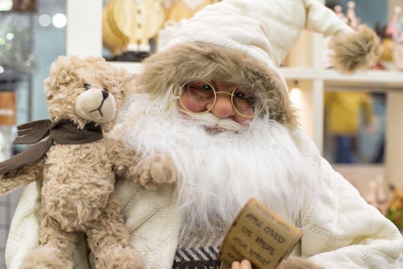 Natal Santa Claus, boneca de Santa Boneca de Santa Claus Brinquedo do Natal fotos de stock royalty free