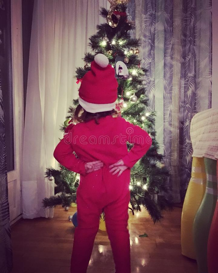Natal Santa Claus das crianças fotos de stock