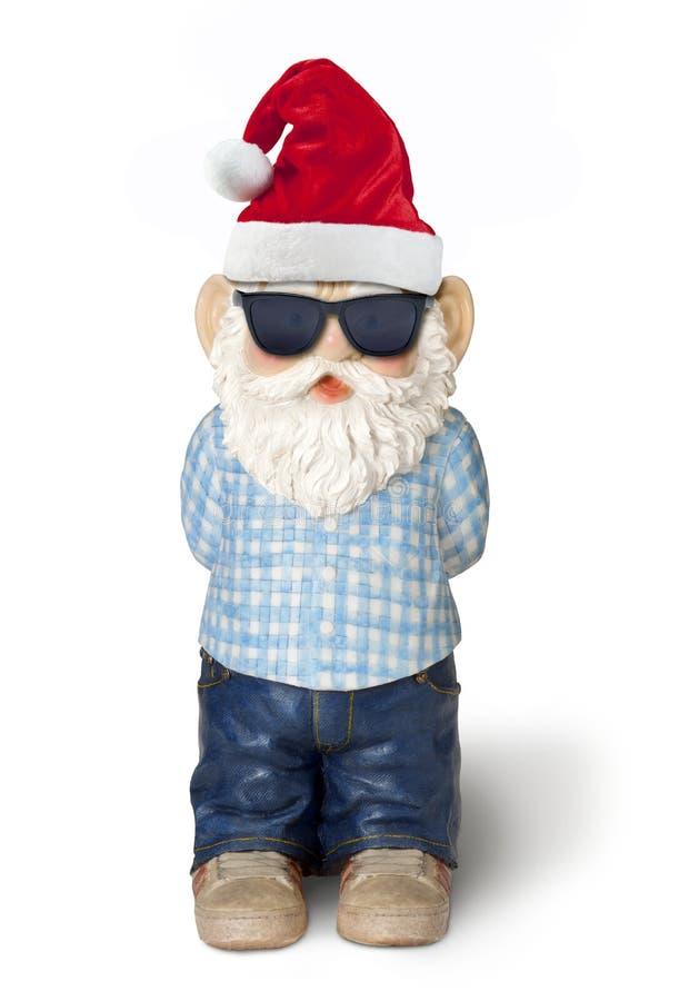 Natal Santa Gnome Elf imagens de stock