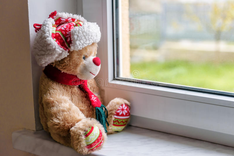 Natal Teddy Bear foto de stock royalty free