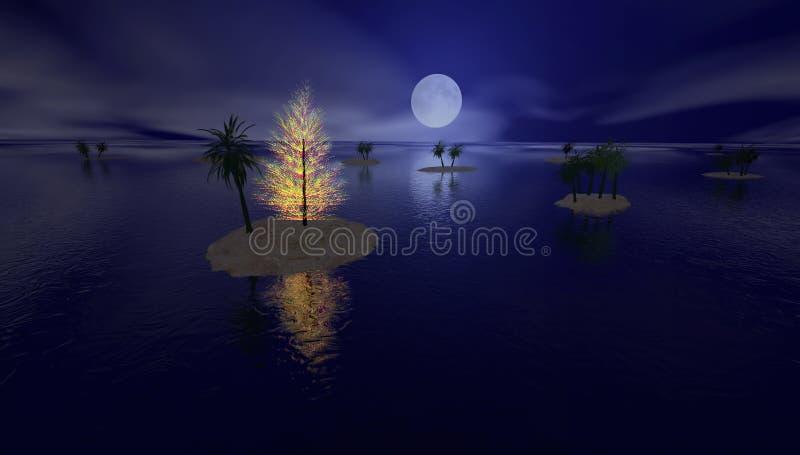 Natal tropical ilustração royalty free