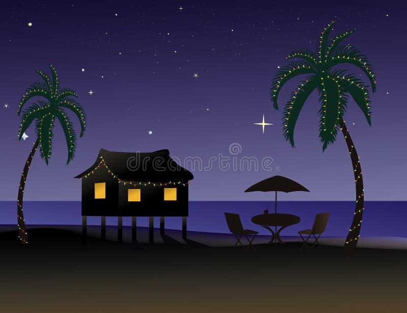 Natal tropical ilustração do vetor
