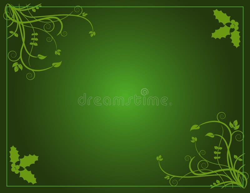Natal verde ilustração do vetor