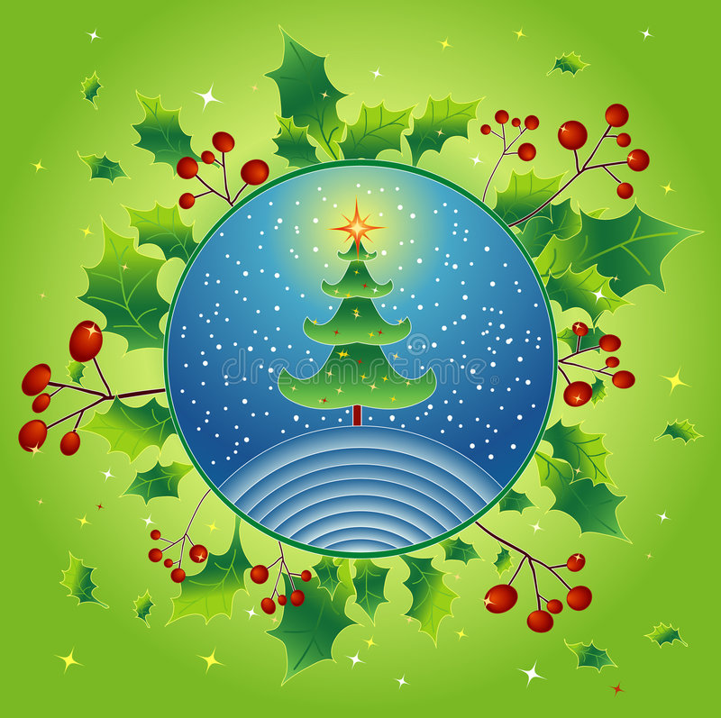 Natal verde, vetor ilustração do vetor