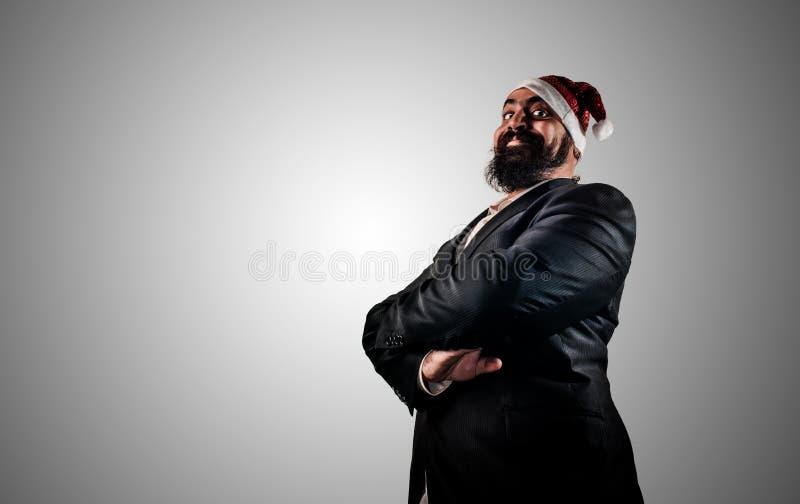 Natale élégant moderne heureux de babbo du père noël photo libre de droits