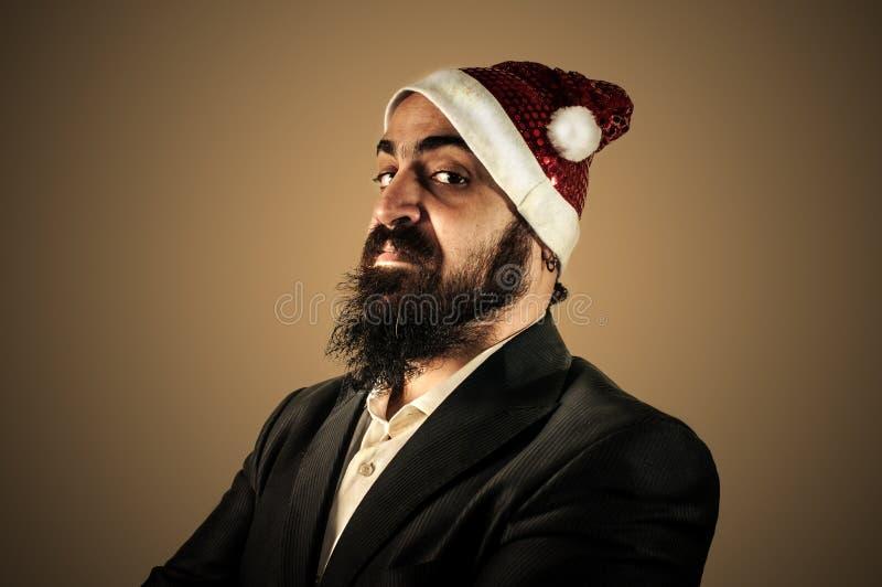 Natale élégant moderne sérieux de babbo du père noël photos stock