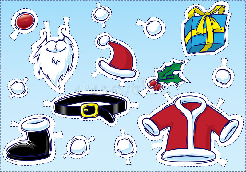 Natale #2 di DIY - costruisca una Santa illustrazione vettoriale