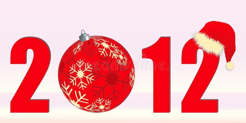 Natale 2012 di tema illustrazione vettoriale
