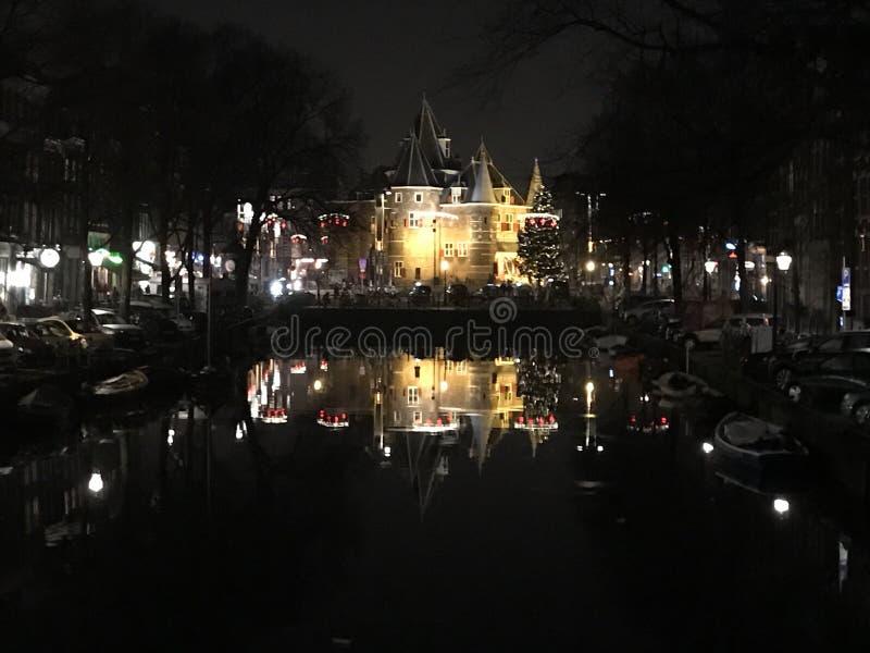 Natale a Amsterdam fotografia stock libera da diritti