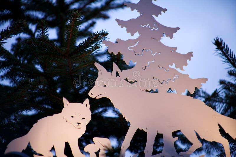 Natale animale della stella di origami fotografia stock libera da diritti