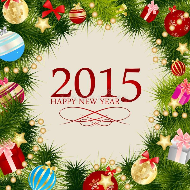 Natale astratto 2015 di bellezza e nuovo anno illustrazione vettoriale