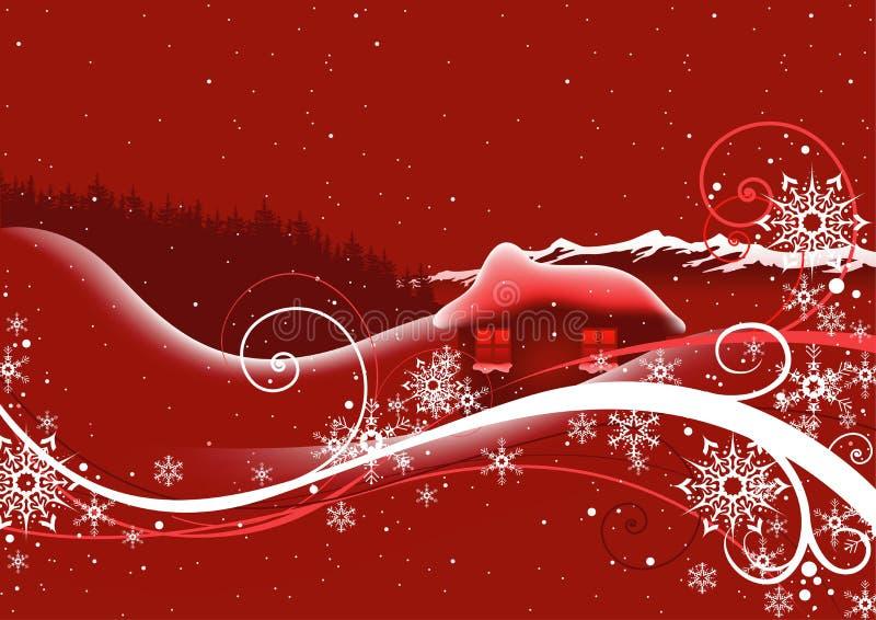 Natale astratto rosso illustrazione di stock
