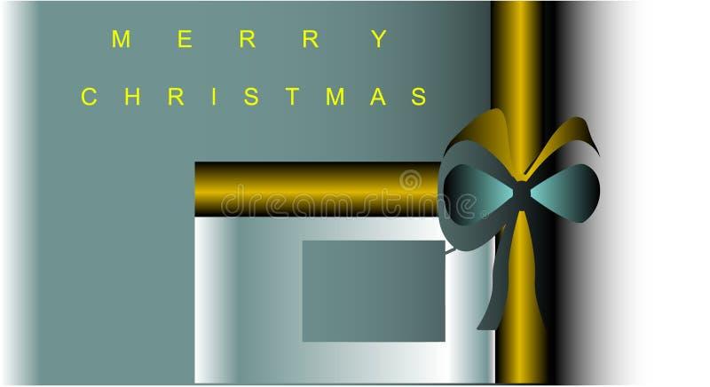 Natale attuale del regalo della cartolina illustrazione vettoriale
