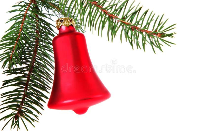 Natale Bell rosso fotografia stock libera da diritti