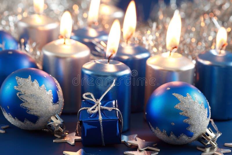 Natale blu immagini stock