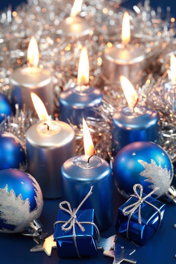 Natale blu immagine stock