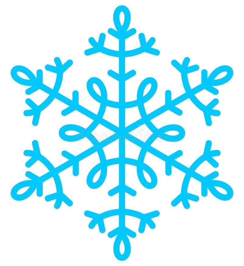 Natale blu del fiocco di neve illustrazione vettoriale