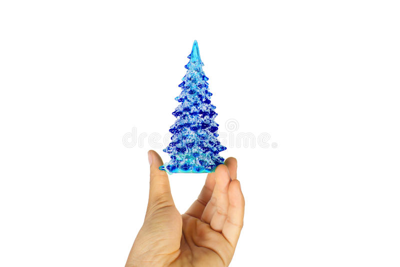 Natale blu dell'albero immagini stock