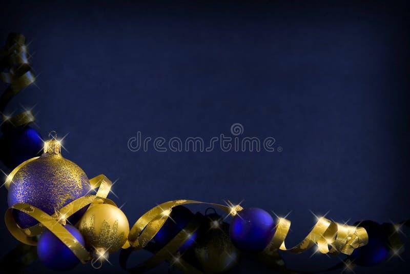 Natale blu scuro illustrazione vettoriale