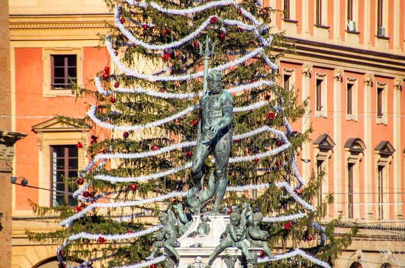 Natale a Bologna Italia fotografia stock libera da diritti