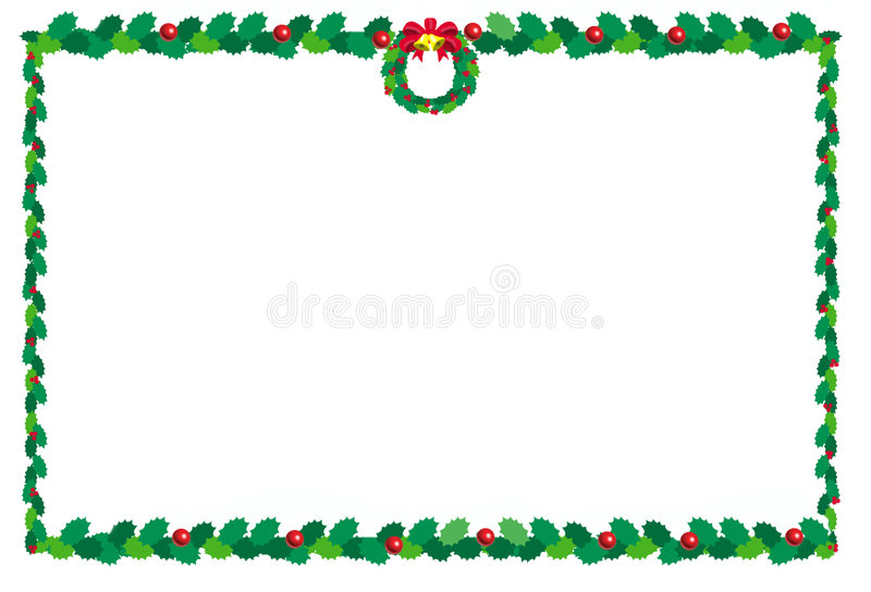 Natale border2 illustrazione di stock