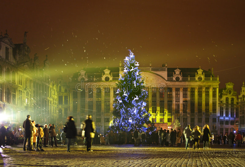 Natale a Bruxelles fotografie stock libere da diritti