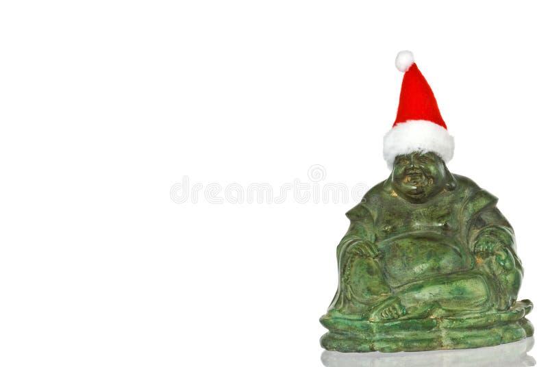 Natale Buddha immagini stock libere da diritti