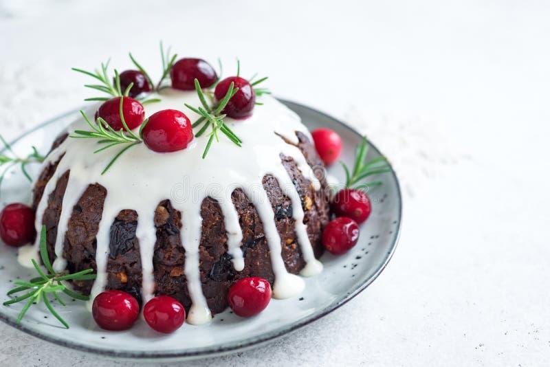 Natale budino, dolce della frutta fotografia stock libera da diritti