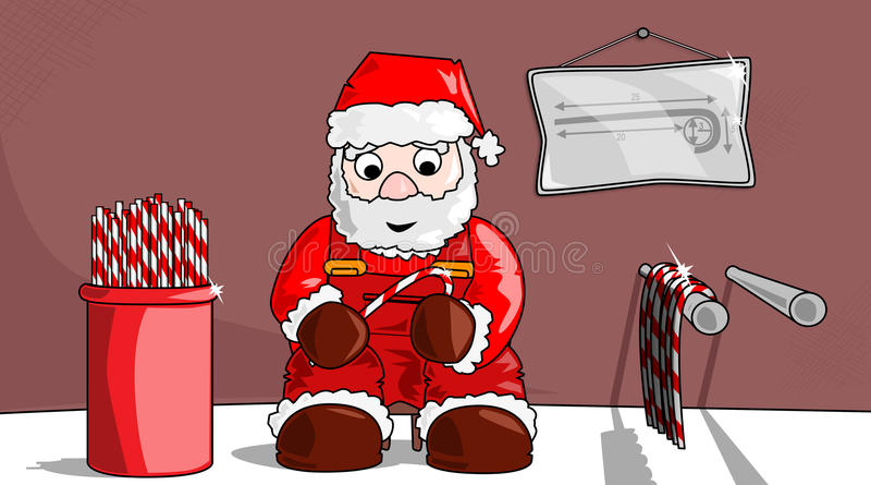 Natale-candysticks immagini stock libere da diritti