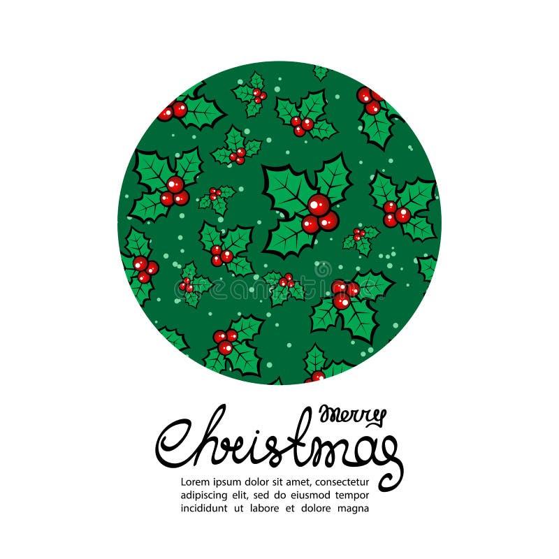 Natale card-07 illustrazione vettoriale