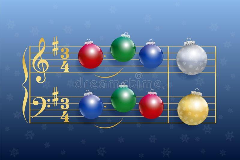 Natale Carol Balls royalty illustrazione gratis