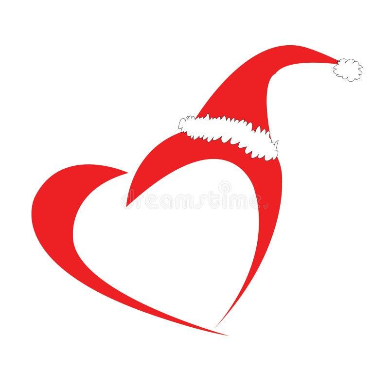 Natale/cartolina di Natale con Santa Claus fotografia stock