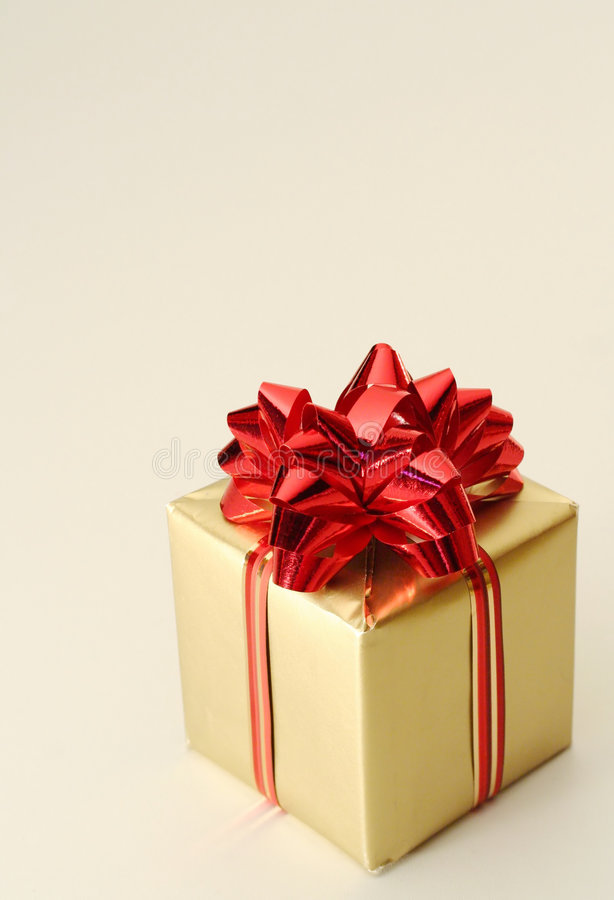 Natale - casella dorata immagini stock libere da diritti
