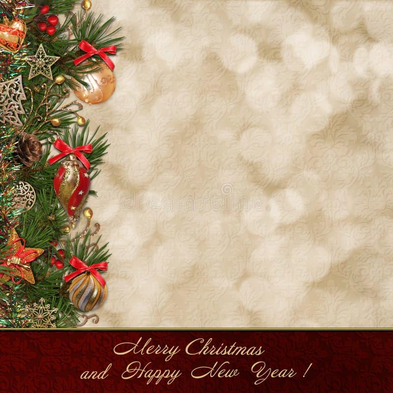 Natale che accoglie fondo illustrazione vettoriale