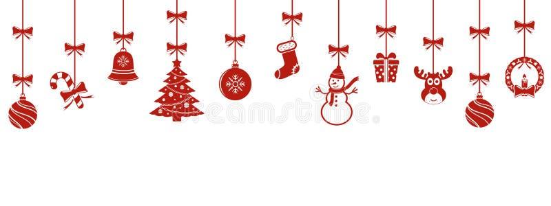 Natale che appende il fondo degli ornamenti royalty illustrazione gratis