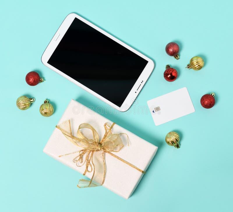 Natale che compera online immagine stock libera da diritti