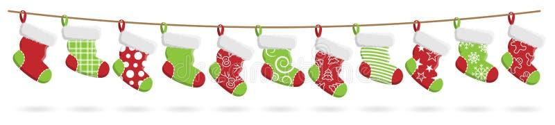 Natale che immagazzina il fondo di bianco di vettore illustrazione di stock