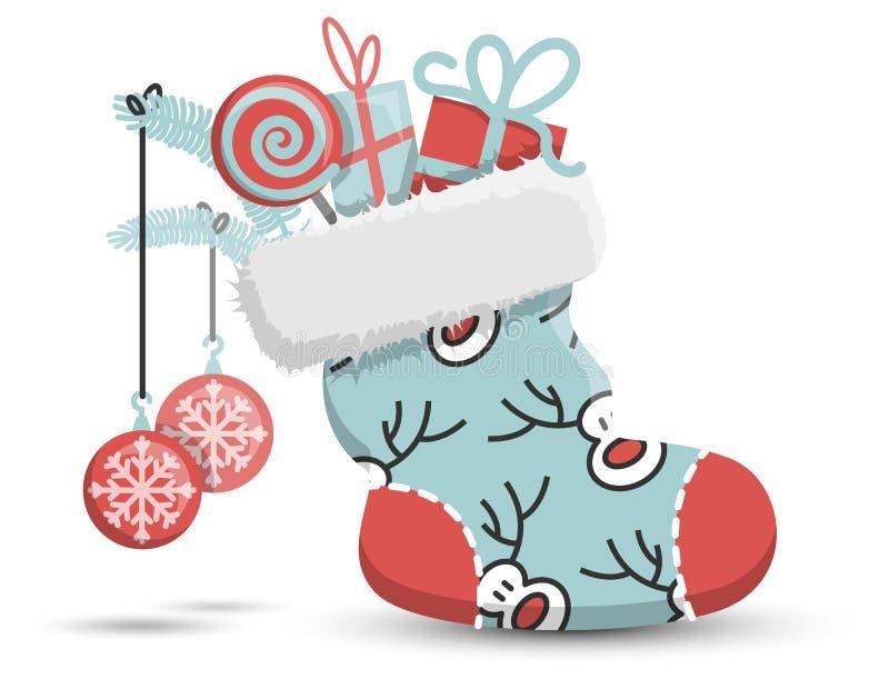 Natale che immagazzina l'icona sveglia di vettore illustrazione vettoriale