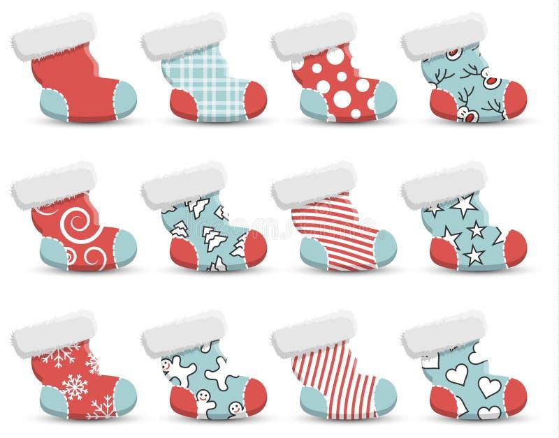 Natale che immagazzina l'insieme di vettore illustrazione di stock