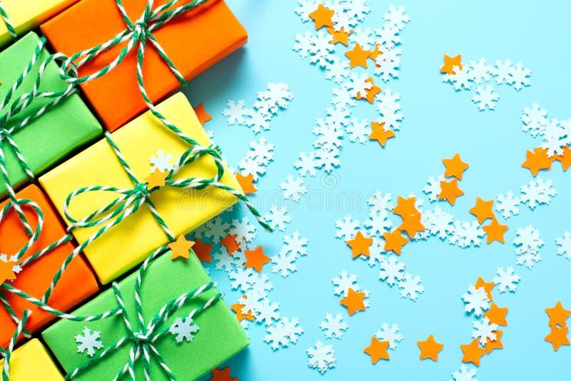 Natale colorato di simbolo dei regali immagini stock libere da diritti