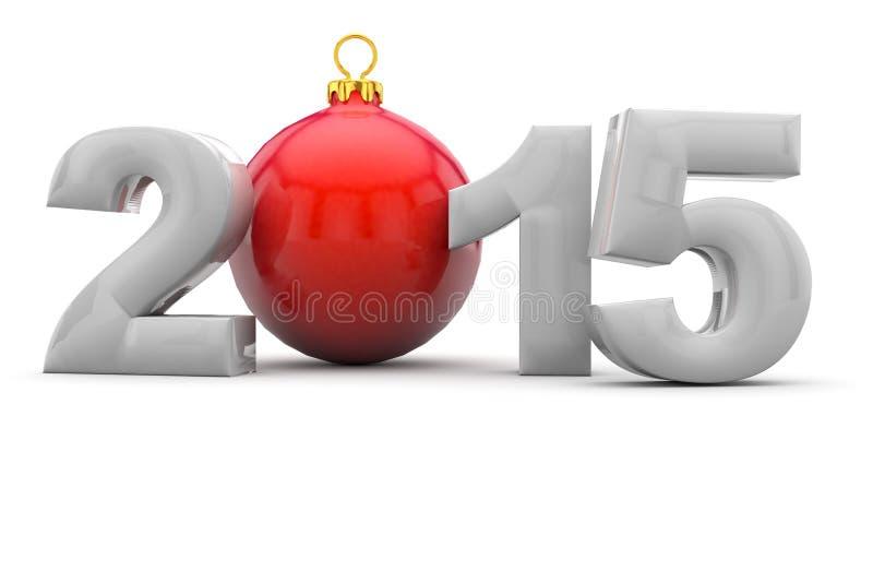 Natale 2015 con l'albero di Natale illustrazione vettoriale
