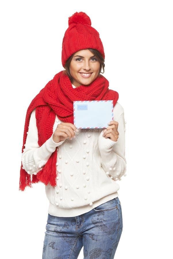 Natale, concetto della posta di inverno immagine stock