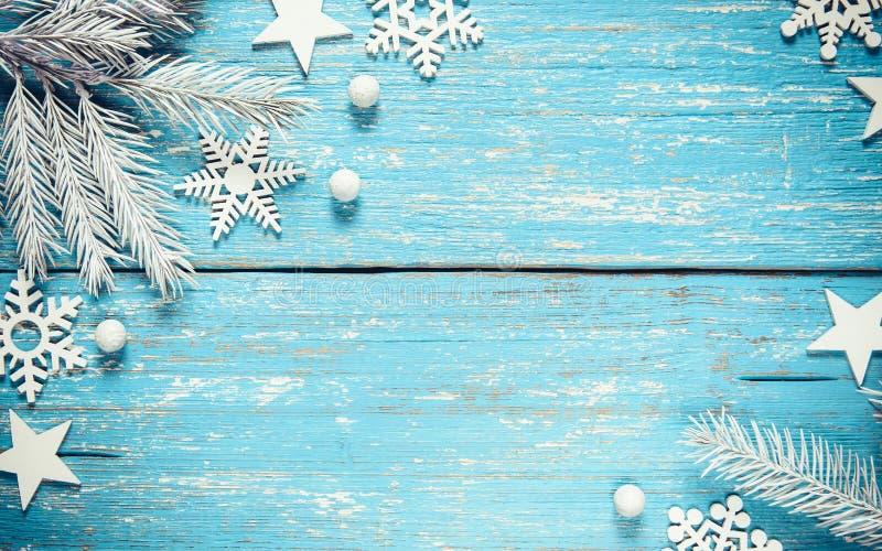 Natale d'annata e fondo di inverno fotografia stock